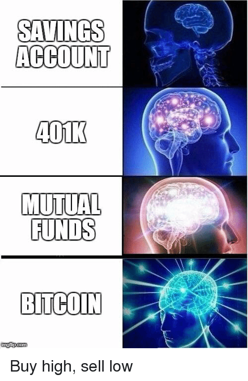 Savings account 401k mutual funds bitcoin imgfipcom reddit meme on buy high sell low ccuart Image collections