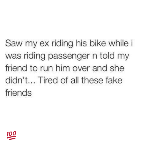 Saw My Ex Riding His Bike While I Was Riding Passenger N Told My