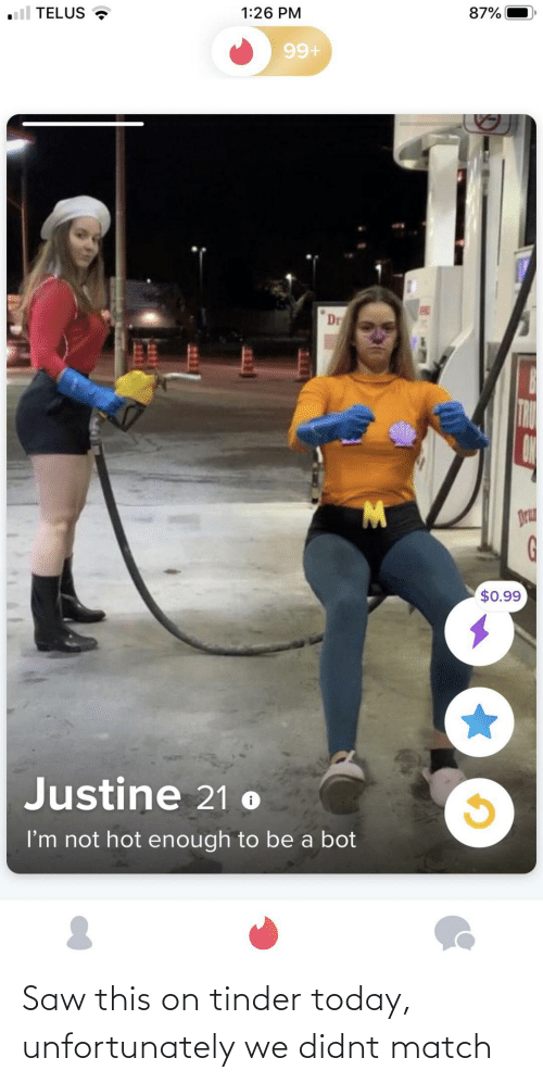 Saw, Tinder, and Match: Saw this on tinder today, unfortunately we didnt match