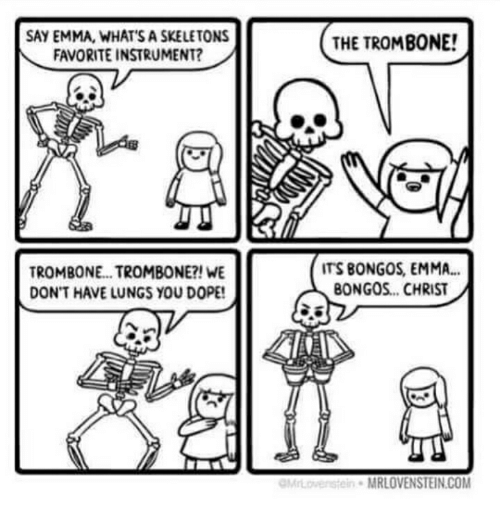 Best Memes About Skeletons Favorite Instrument Skeletons - Skeletons favourite childhood cartoon characters