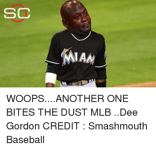 sc miam woops another one bites the dust mlb dee gordon 22042007 funny an idiot sandwich memes of 2017 on me me,Dee Gordon Meme