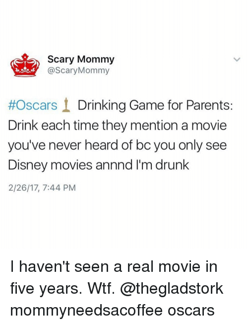 scary mommy mommy oscars i drinking game for parents drink each