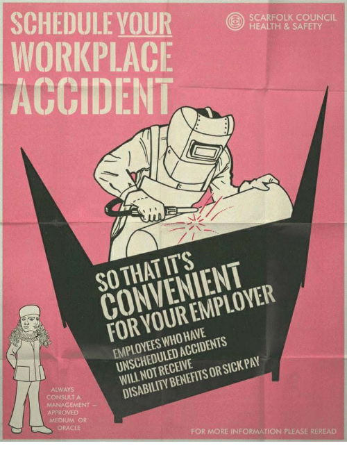 SCHEDULE YOUR WORKPLACE ACCIDENT SCARFOLK COUNCIL HEALTH & SAFETY SO