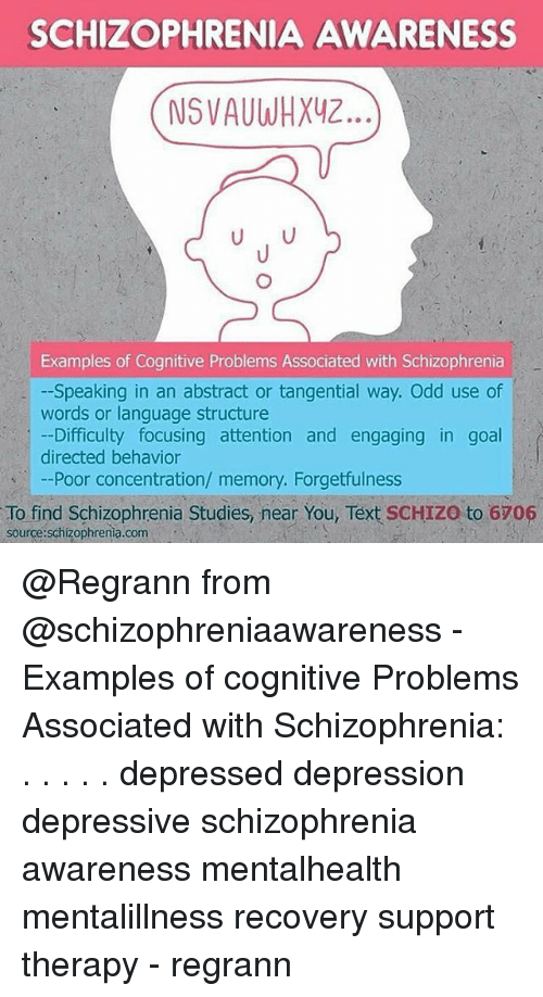 Schizophrenia Awareness Nsvauwhxy2 Examples Of Cognitive Problems