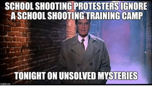 School shooting protesters ignore a school shooting training camp memes school and school shooting protesters ignore a school shooting training camp publicscrutiny Images