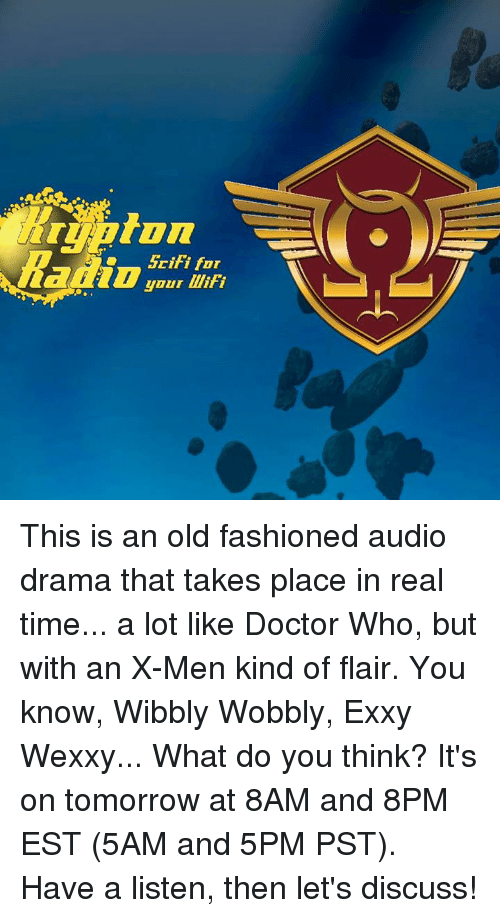 scifi for your lliti this is an old fashioned audio drama that takes