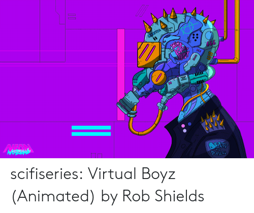 Tumblr, Blog, and Http: scifiseries:  Virtual Boyz (Animated) by Rob Shields
