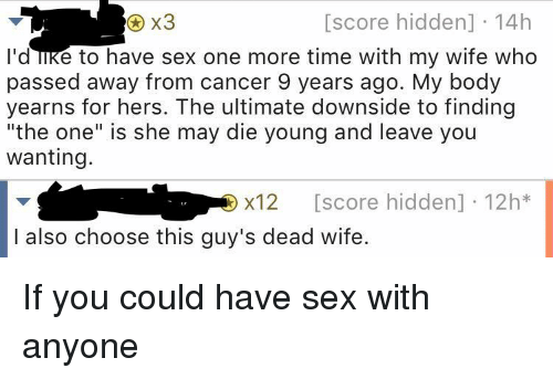 Having sex with a dead spouse