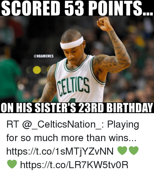 scored 53 points nbamemes on his sisters 23rd birthday rt 19879938 how bryce feels after his 23rd birthday memesc 23rd birthday