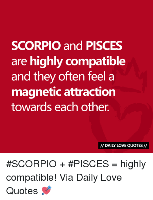 SCORPIO and PISCES Are Highly Compatible and They Often Feel a