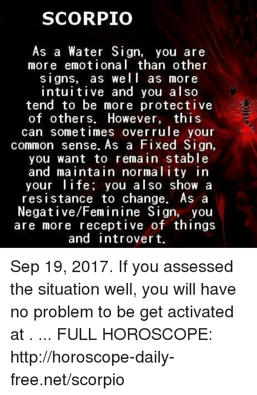 scorpio as a water sign you are more emot i onal than other signs as well as more intuitive and