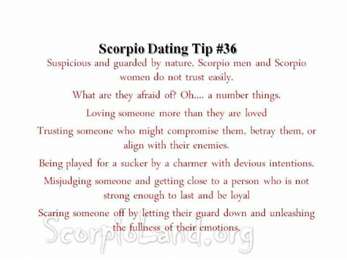 what not to do when dating a scorpio man