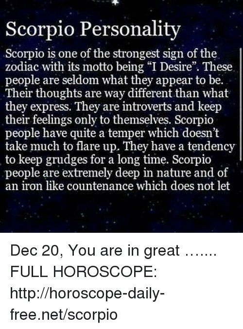 december 20 scorpio horoscope