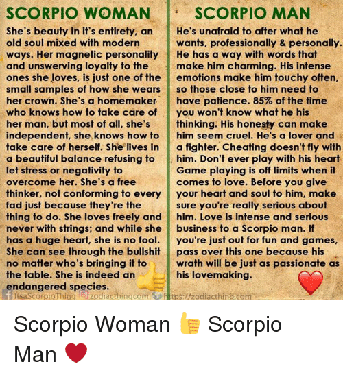 Scorpio men in love or not