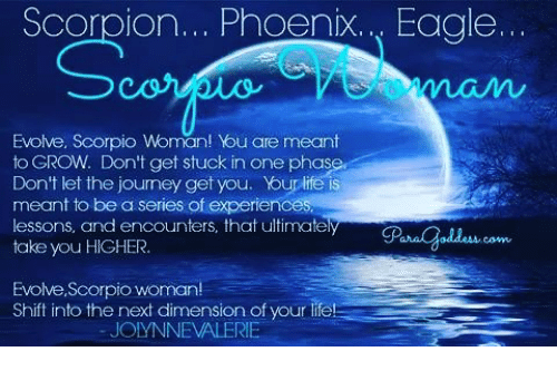 Evolved scorpio woman