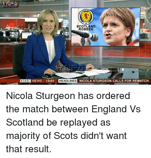 Image result for nicola sturgeon funny poster replay