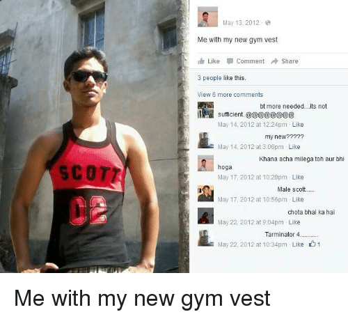 Gym Indianpeoplefacebook And May Scott May  Me With