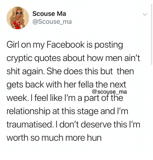 girlfriend doesn t text back but is on facebook