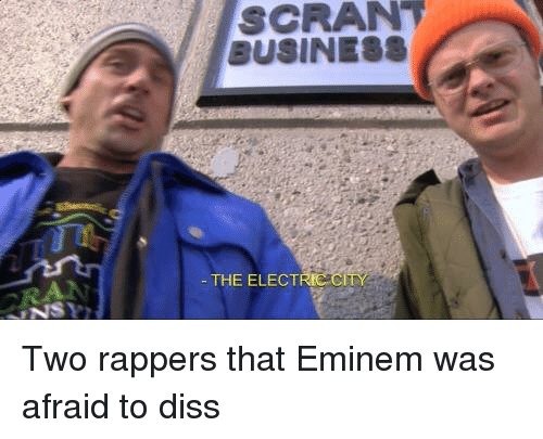 Diss, Eminem, and The Office: SCRANT  THE ELECT