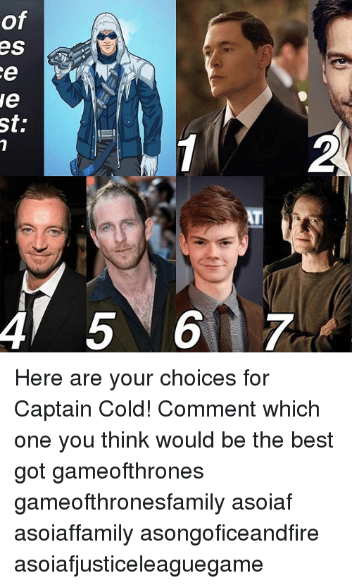 Sd Here Are Your Choices For Captain Cold Comment Which One You