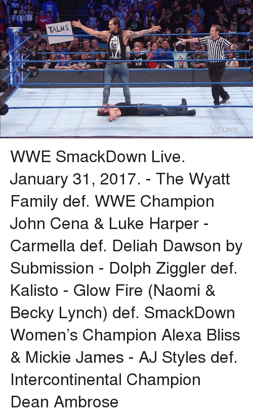 SD Live TALMS 316 WWE SmackDown Live January 31 2017 - The