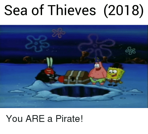 Sea Of Thieves 2018 You Are A Pirate Pirate Meme On Me Me