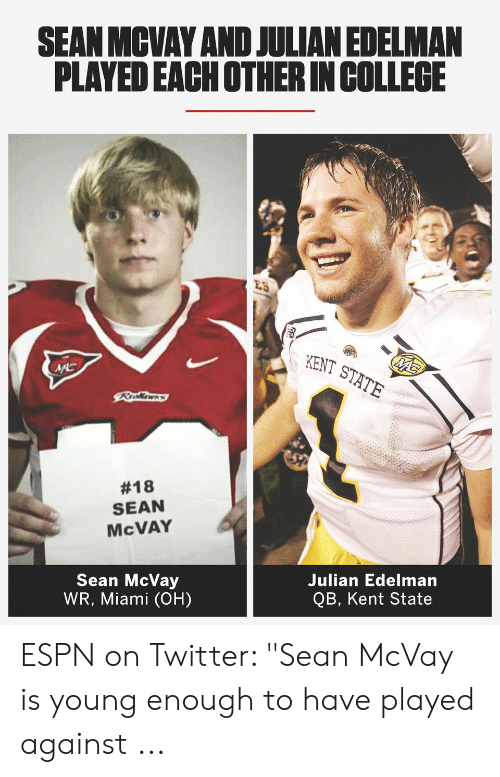 Sean Mcvay And Julian Edelman Played Each Otherin College