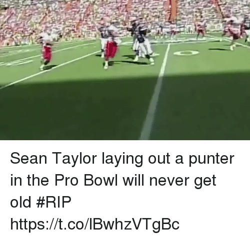 me.me: Sean Taylor laying out a punter in the Pro Bowl will never get old #RIP https://t.co/lBwhzVTgBc