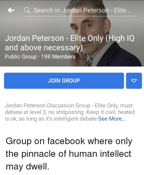 Search in Jordan Peterson - Elite Jordan Peterson - Elite Only High