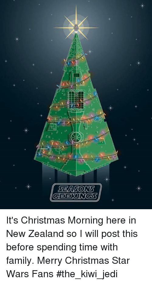 jedi memes and star wars seasons its christmas morning here in new zealand - Merry Christmas Star Wars