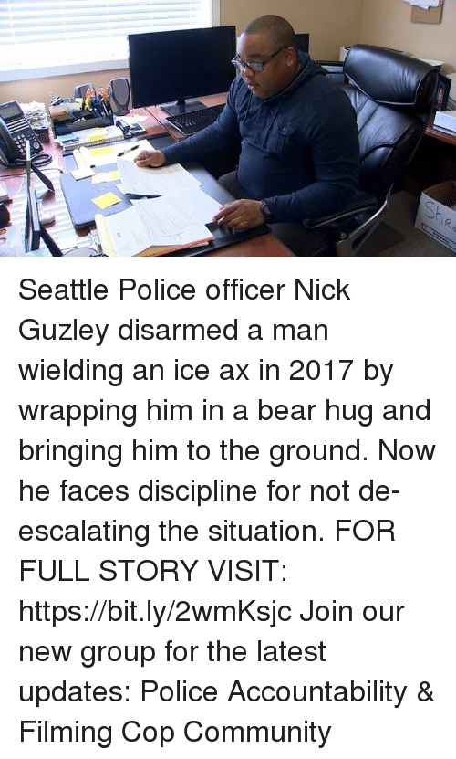 Community, Memes, and Police: Seattle Police officer Nick Guzley disarmed a man wielding