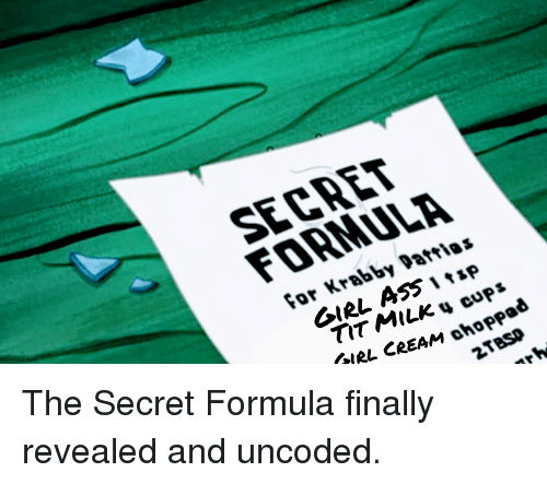 The krusty krab secret formula