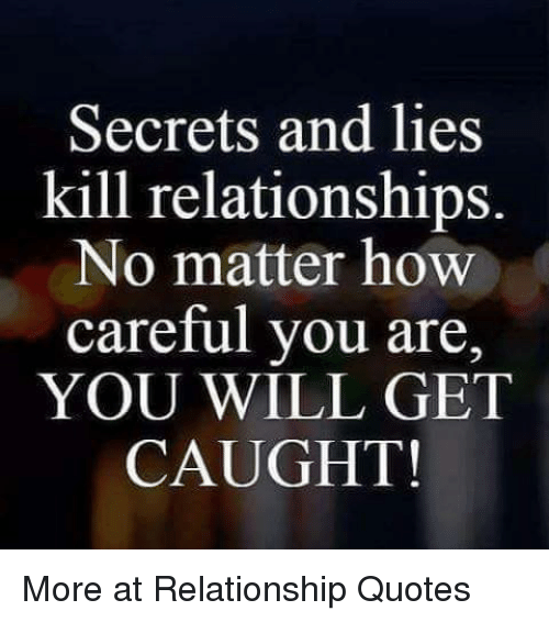 lying in a relationship quotes