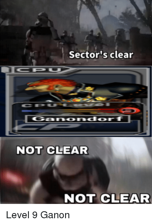 Sector S Clear Not Clear Not Clear Level 9 Ganon Smash