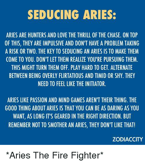 How to seduce a aries man