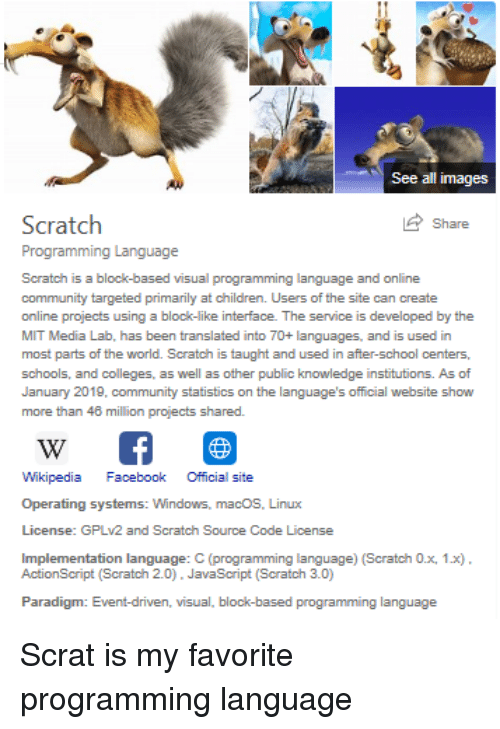 See All Images Scratch Programming Language Share Scratch Is