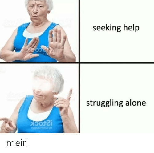 Being Alone, Help, and MeIRL: seeking help  struggling alone meirl