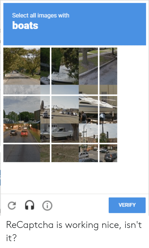 Select All Images With Boats VERIFY Ap ReCaptcha Is Working