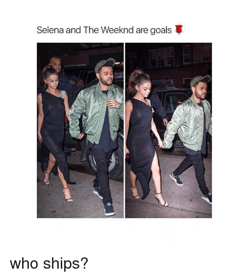 Goals, The Weeknd, and Selena: Selena and The Weeknd are goals who ships?
