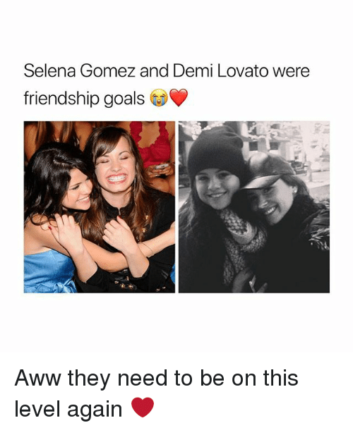 Aww, Demi Lovato, and Goals: Selena Gomez and Demi Lovato were  friendship goals Aww they need to be on this level again ❤️