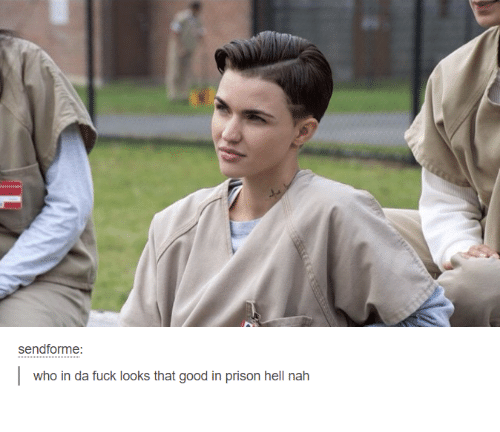 Prison, Fuck, and Good: sendforme  who in da fuck looks that good in prison hell nah