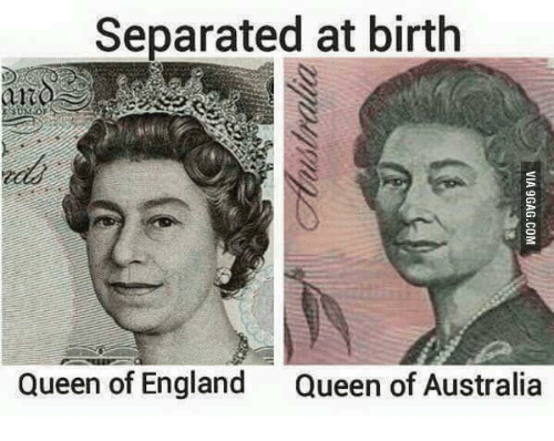 Separated at Birth Birth Queen of England Queen of Australia | Queen