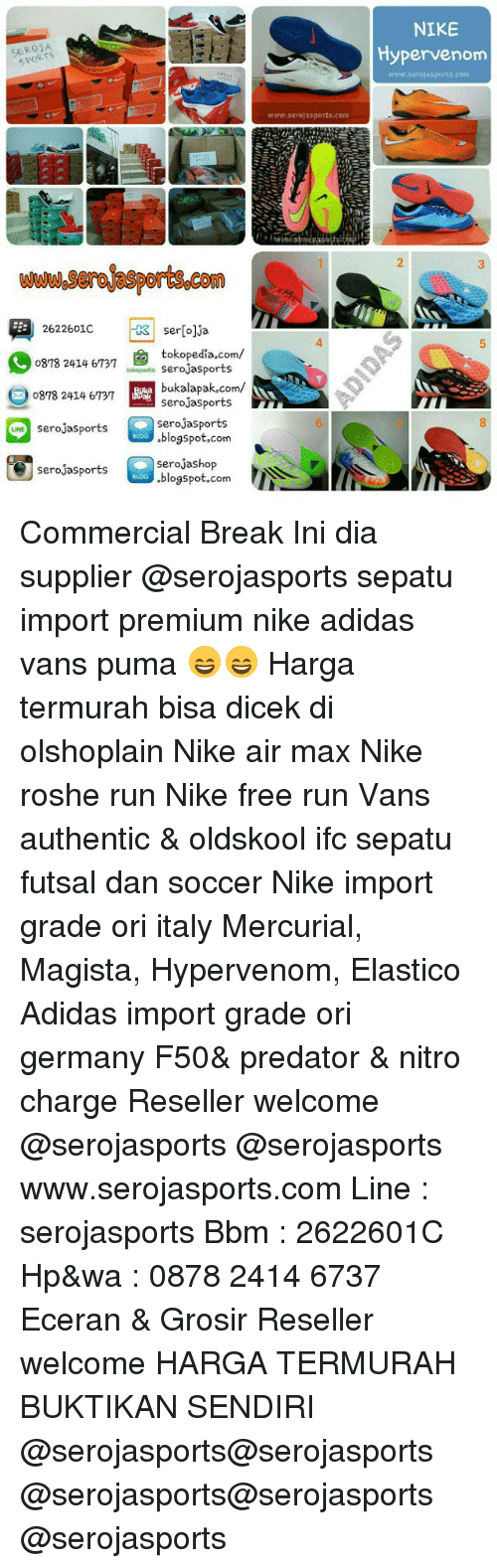 Ser 01 A 2622601c Seroja Tokopediacom 0878 2414 6737 Sports Sepatu Futsal Import Nike Adidas And Run