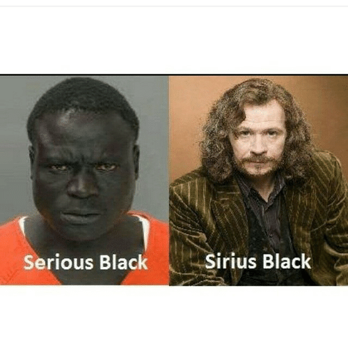 serious black sirius black 2333019 serious black sirius black black meme on me me