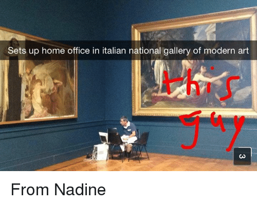 Ups, Home, And Office: Sets Up Home Office In Italian National Gallery Of