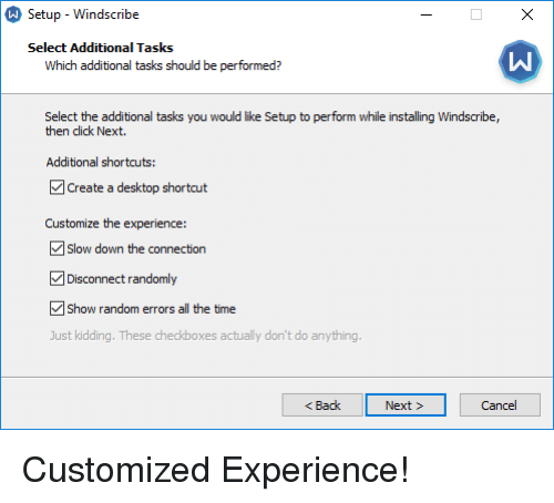 Setup-Windscribe Select Additional Tasks Which Additional