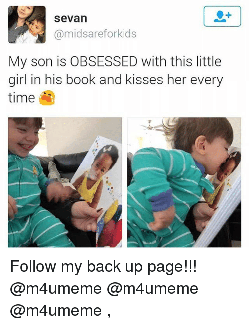 Funny, Book, and Girl: Sevan  @midsareforkids  My son is OBSESSED with this little  girl in his book and kisses her every  time Follow my back up page!!! @m4umeme @m4umeme @m4umeme ,