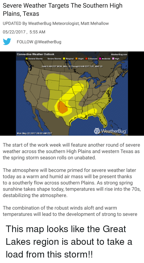 Severe Weather Targets the Southern High Plains Texas