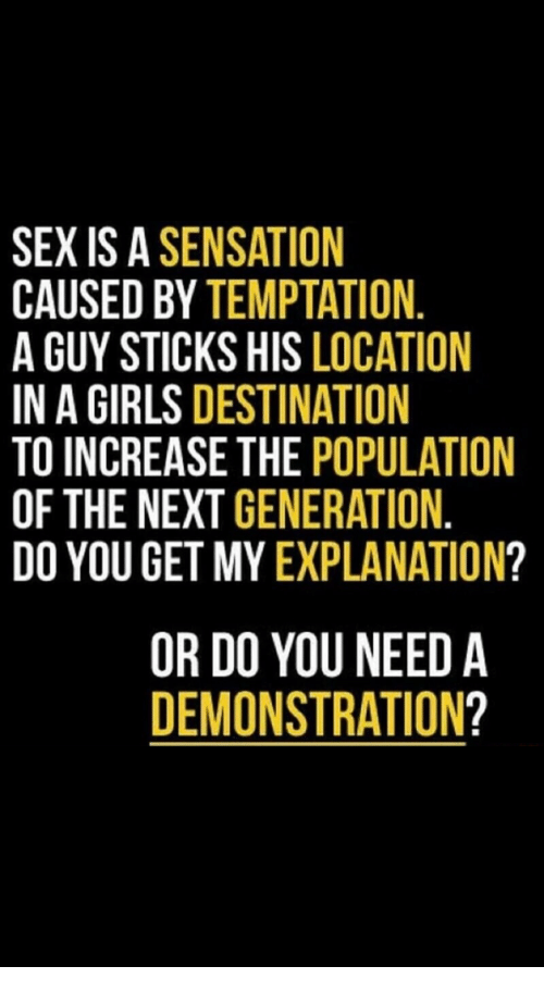 Sex is a sensation