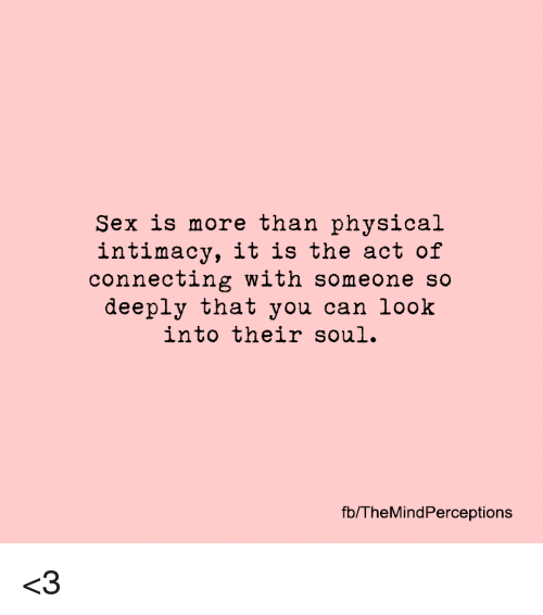 Is it more than sex